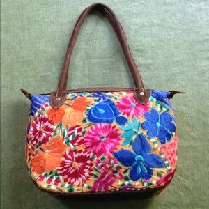 Handbags - Embroidered Colorful Bag Purse Floral Leather Cute